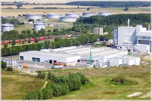 Aerial view: Mechanical-biological waste treatment plant Rostock